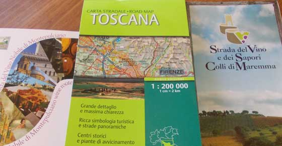 Weekend in Toscana mappe